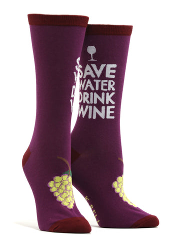 Women's Drink Wine Socks