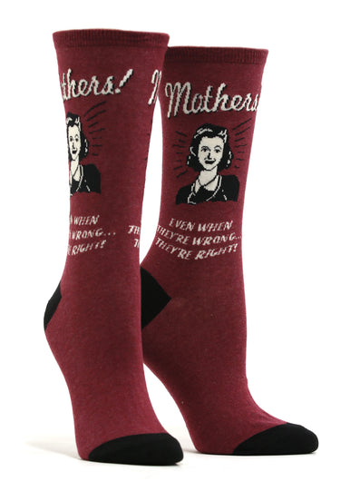 Women's Mothers Know Best Retro Spoof Socks