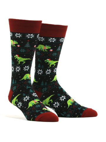 Men's Santasaurus Rex Socks