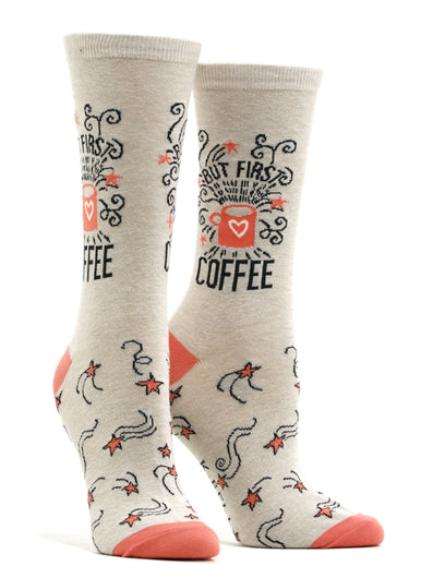 Women's But First Coffee Socks