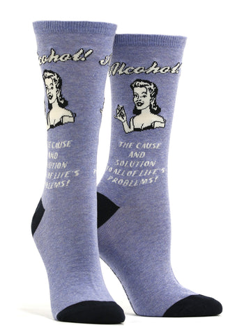 Women's Alcohol Cause And Solution Socks