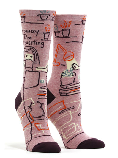 Women's Go Away I'm Introverting Socks