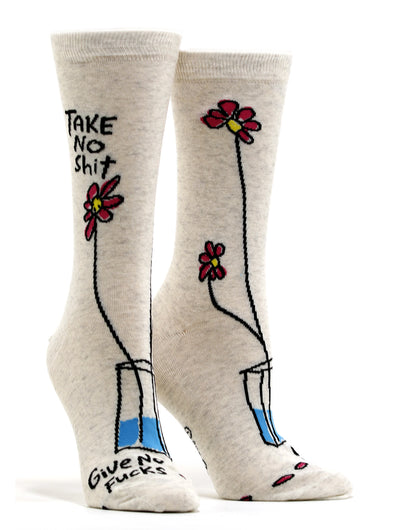 Women's Take No Shit Give No Fucks Socks