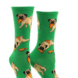 Women's Pug Pizza Party Socks