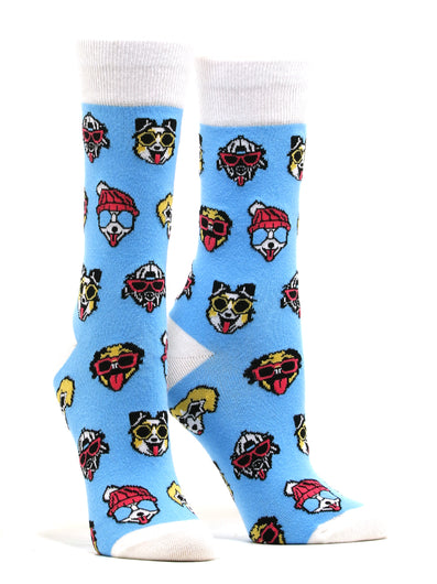 Women's Dogs With Sunglasses Socks
