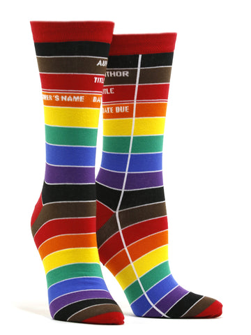 Women's Library Card: Pride Socks
