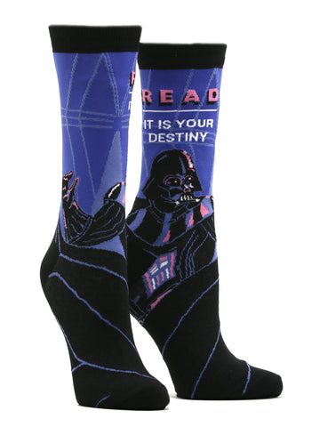 Women's Darth Vader Star Wars Read Socks