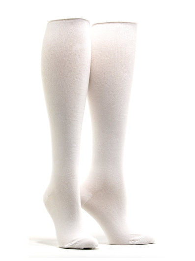Women's Solid White Socks