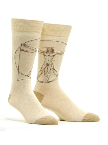 Men's Vitruvian Man Socks