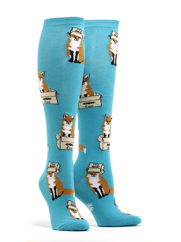 Women's Foxes In Boxes Socks
