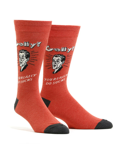 Men's You Suck Retro Spoof Socks