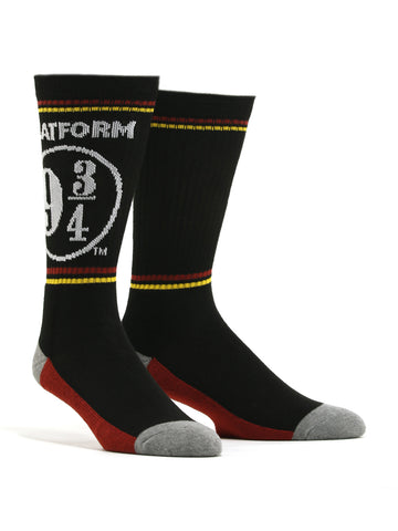 Men's Harry Potter Platform 9 3/4 Socks