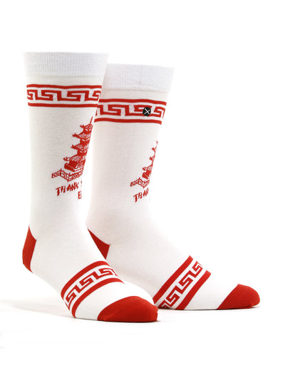 Men's Chinese Food Takeout Box Socks