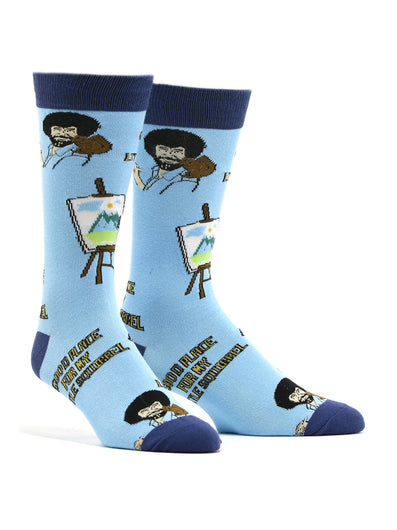 Men's Bob Ross - Little Squirrel Socks