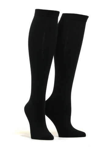 Women's Solid Black Socks
