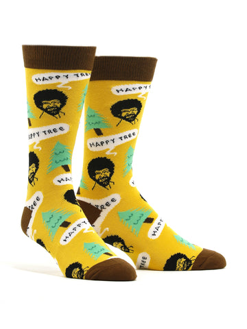 Men's Bob Ross - Happy Tree Socks