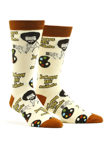 Men's Bob Ross - Happy Little Accident Socks