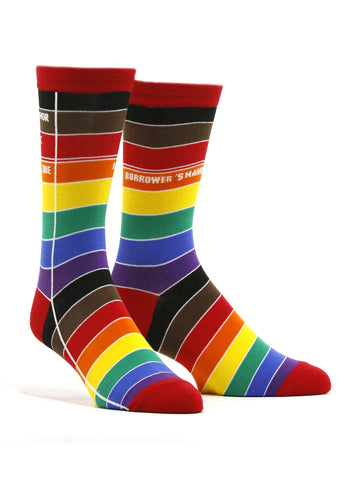 Men's Library Card: Pride Socks