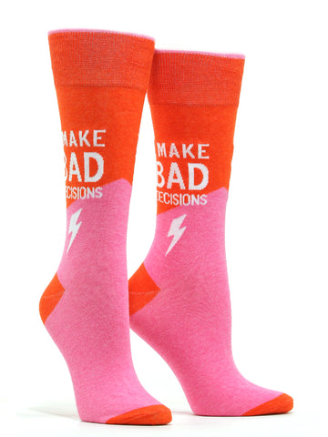 Women's I Make Bad Decisions Socks