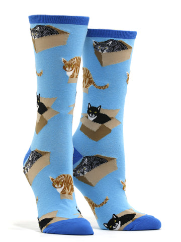 Women's Cat In A Box Socks