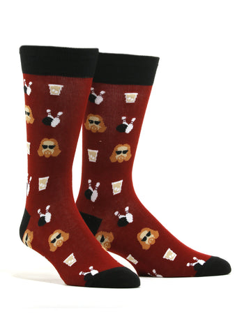 Men's The Dude Abides Big Lebowski Socks