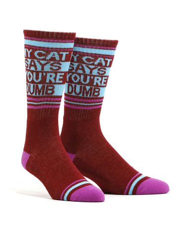 Men's My Cat Says Your Dumb Socks