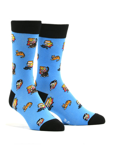 Women's Epic Reads Bookstore Cats Socks