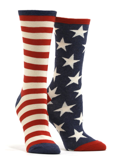 Women's US Flag Socks