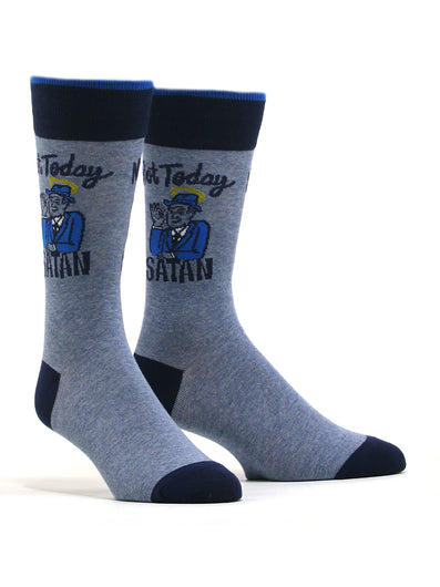 Men's Not Today Satan Socks