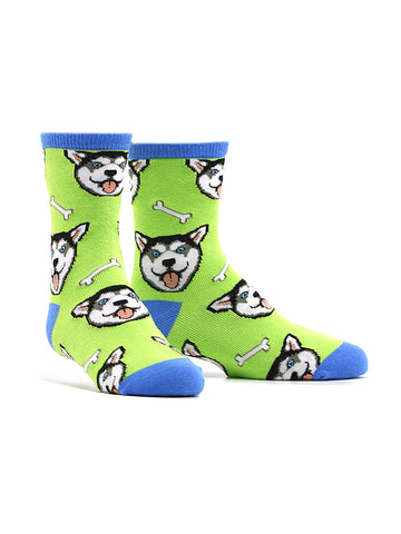 Kid's Happy Husky Socks