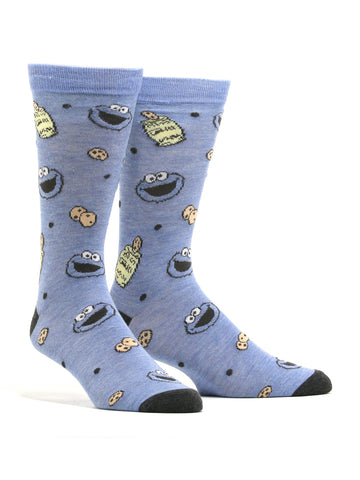 Men's Sesame Street Cookie Monster Socks