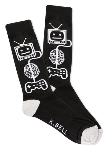 Men's Video Game Brain Socks