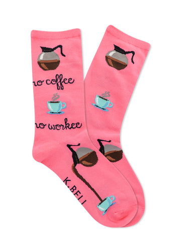 Women's No Coffee No Workee Socks