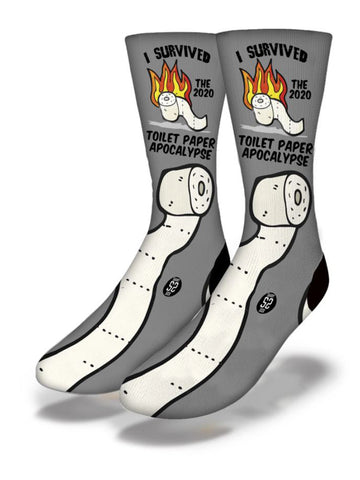 Men's Toilet Paper Apocalypse Socks