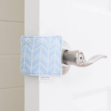 The Original Cushy Closer Door Cushion- Birch Blue | Door Latch Cover- Baby Safety & Quiet Doors