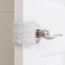 The Original Cushy Closer Door Cushion- Birch Gray | Door Latch Cover- Baby Safety & Quiet Doors