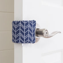 The Original Cushy Closer Door Cushion- Birch Navy | Door Latch Cover- Baby Safety & Quiet Doors