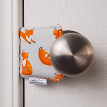 The Original Cushy Closer Door Cushion-Charlie Fox Gray |Door Latch Cover-Baby Safety & Quiet Doors