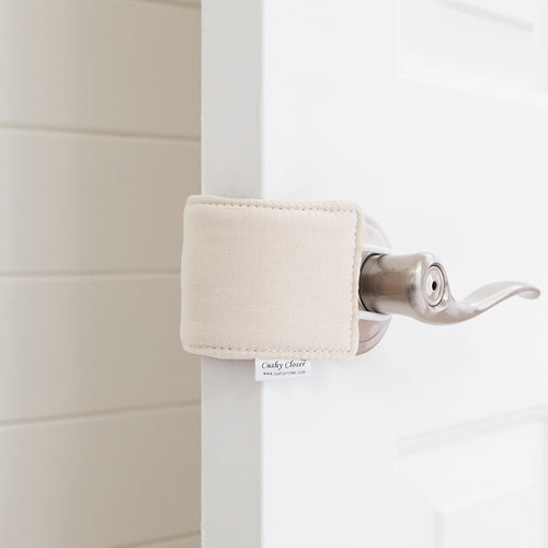 The Original Cushy Closer Door Cushion- Natural | Door Latch Cover- Baby Safety & Quiet Doors