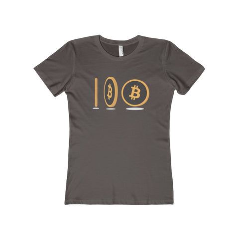 The 'Spinning Coin' Boyfriend Tee in Brown