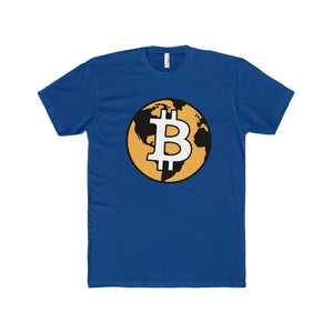 The 'Bitcoin World' Perfect Tee in Blue