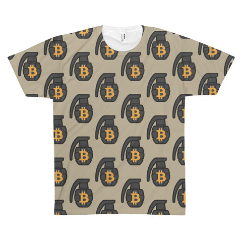 The 'BTC Grenade' Sublimated Tee in Khaki