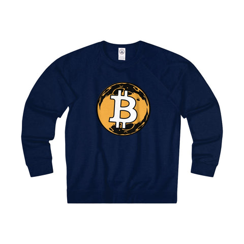 The 'Bitcoin Moon' Midweight Crewneck in Navy