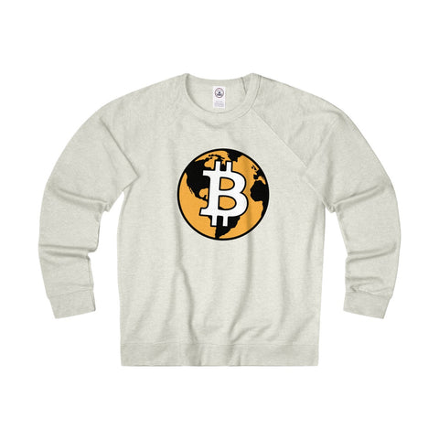 The 'Bitcoin World' Midweight Crewneck in Beige