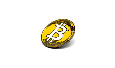 The BTC To The Moon Lapel Pin