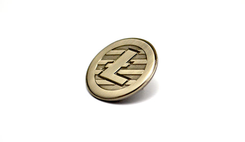 The Antiqued Litecoin Lapel Pin