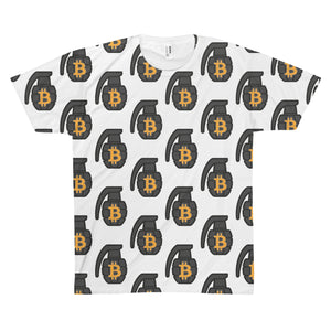 The 'BTC Grenade' Sublimated Tee in White