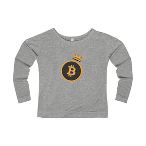 The 'Bitcoin Queen' Wide Neck Sweatshirt