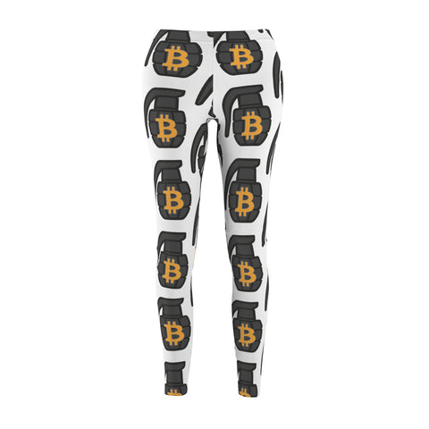 The 'BTC Grenade' Leggings in White
