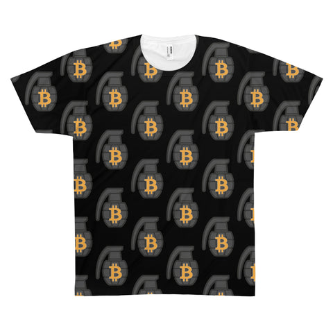 The 'BTC Grenade' Sublimated Tee in Black